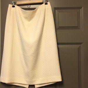 Pendleton Wool A line Skirt Winter White 14